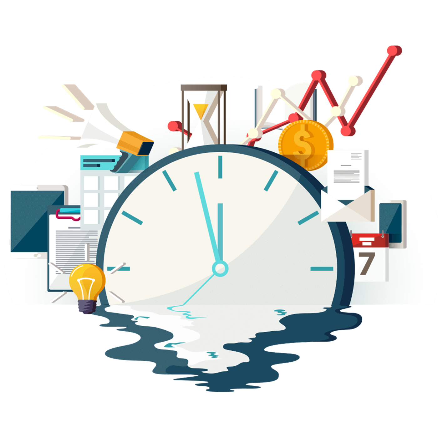 Line Management Technology Goal Time Free HQ Image PNG Image