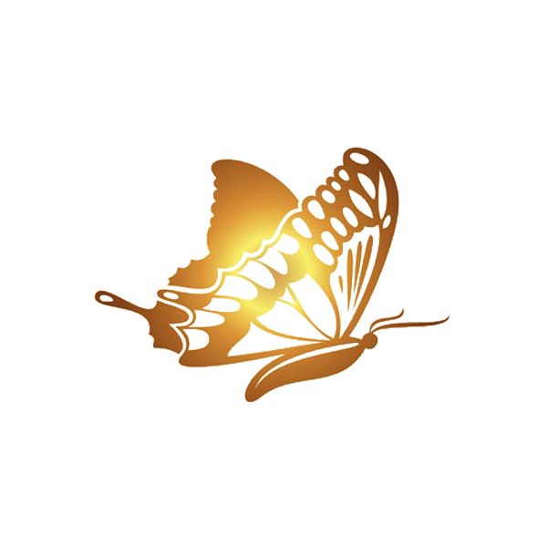 Butterfly Golden Gold Software HQ Image Free PNG PNG Image