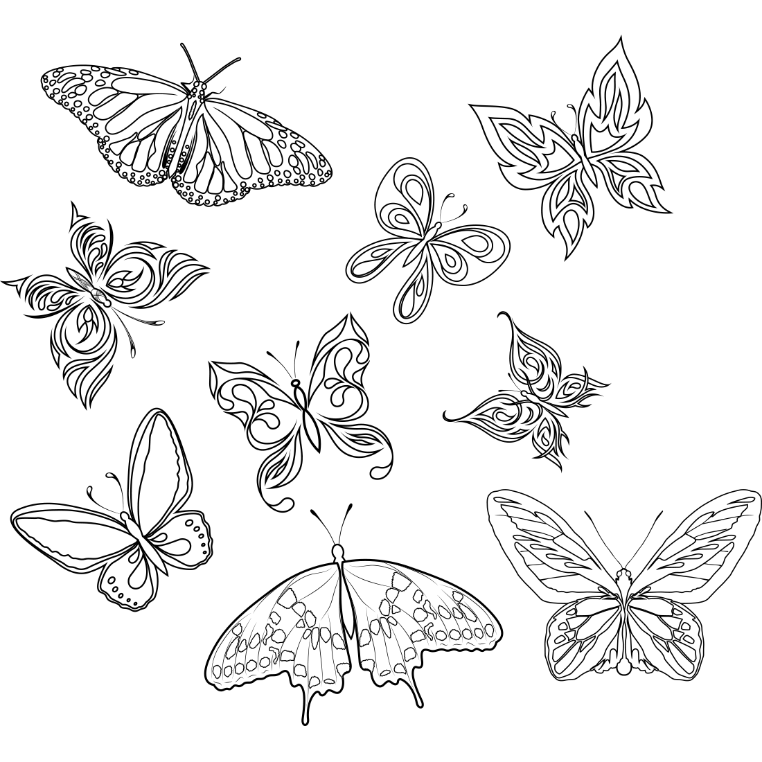 Butterfly Tattoo Art Insects Photography Butterflies Black PNG Image