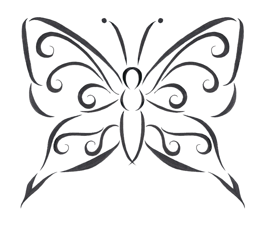 Butterfly Tattoo Designs Transparent PNG Image