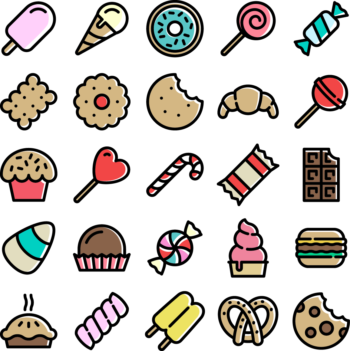 20 Models Material Candy Sweets Vector Lollipop PNG Image