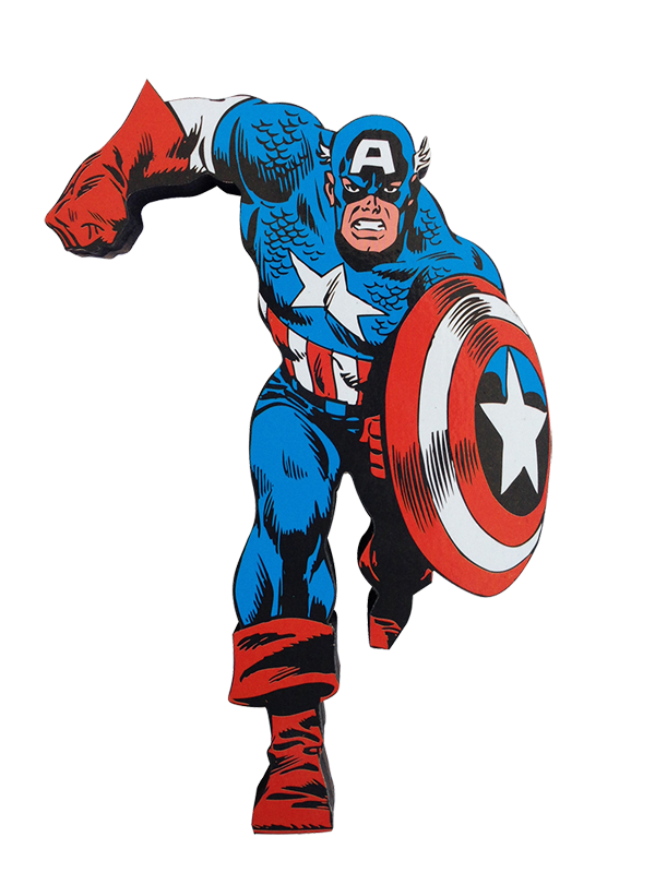 America Figure Comics Character Fictional Iron Action PNG Image