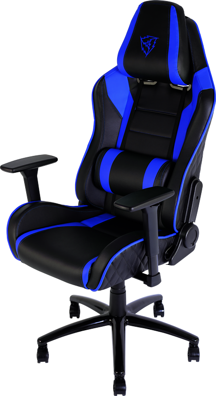 Blue Gaming Chair Dxracer Black HQ Image Free PNG PNG Image
