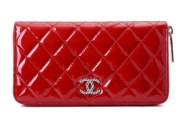 Fashion Quilted Clutch Perfume Handbag Chanel Red PNG Image
