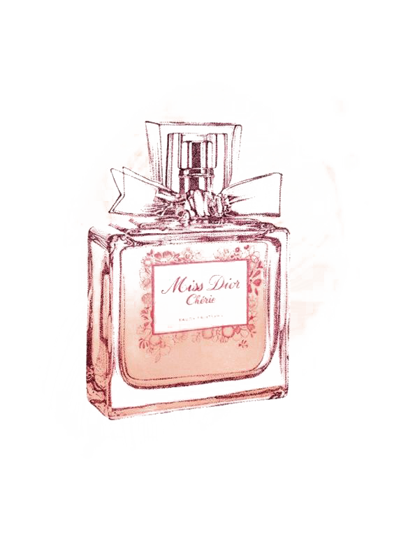 Pink No. Chanel Dior Perfume Miss Drawing PNG Image