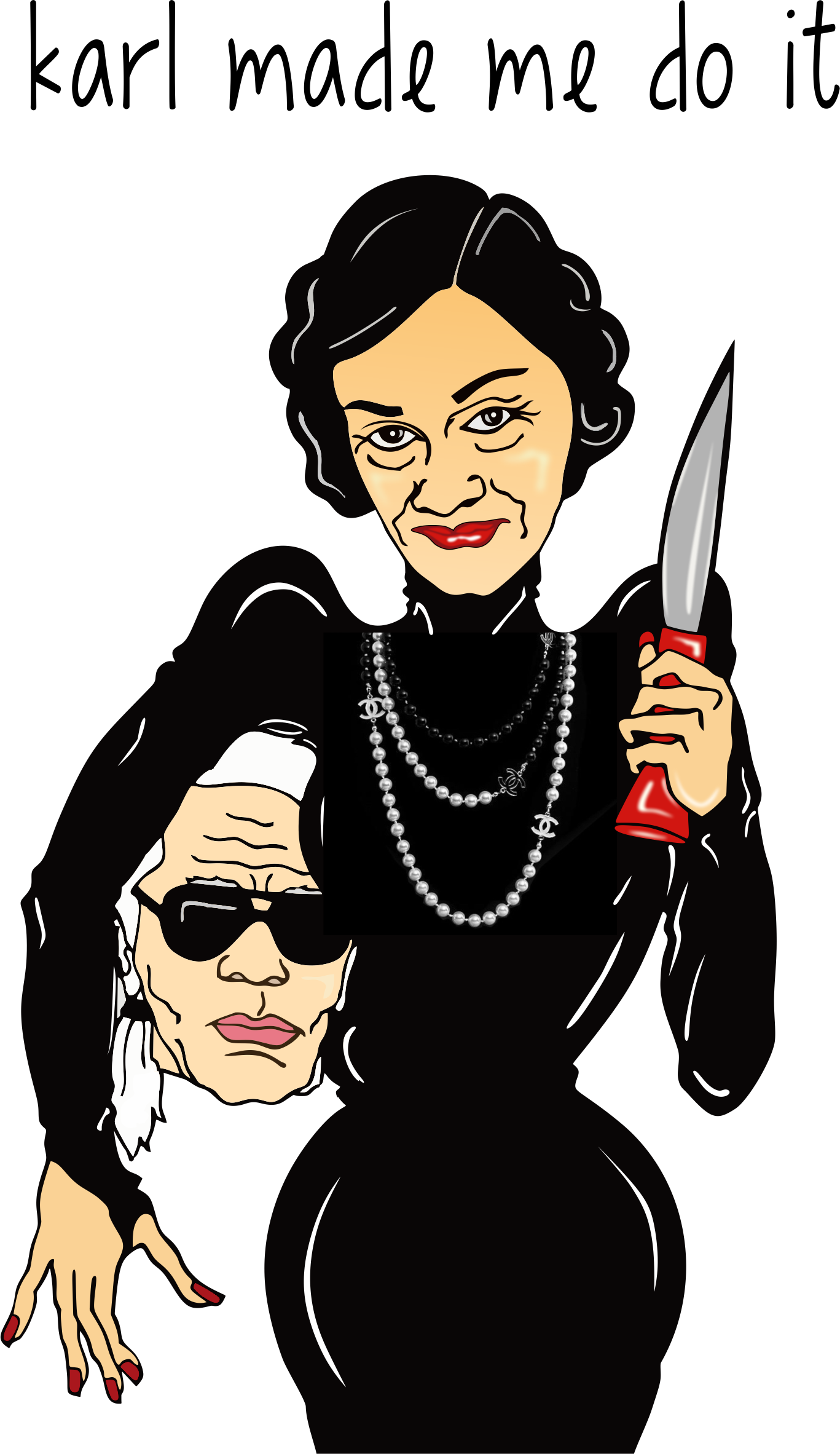 Coco Cartoon Chanel Karl Lagerfeld Free Transparent Image HD PNG Image