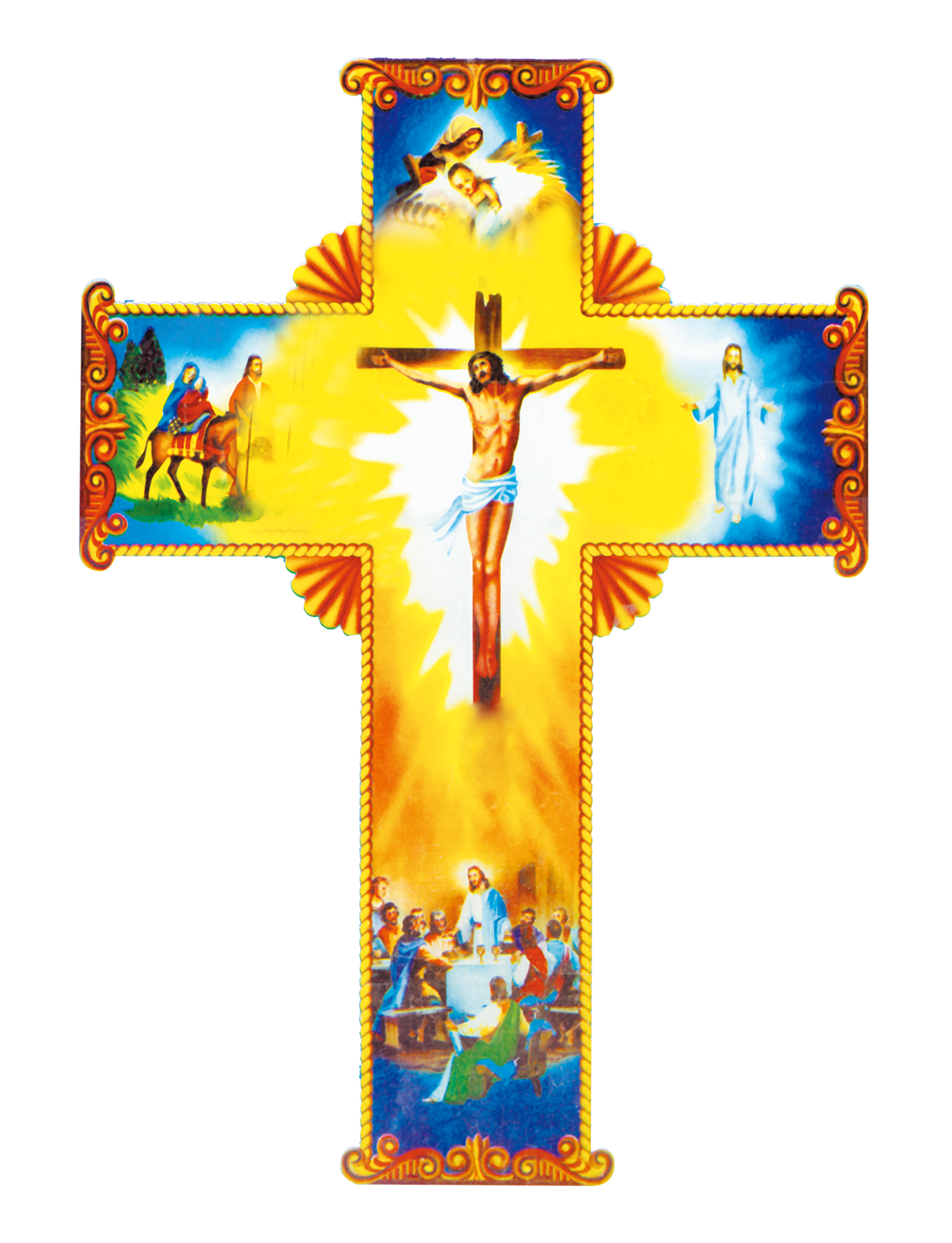 Christian Of Material Cross Jesus Crucifixion With PNG Image