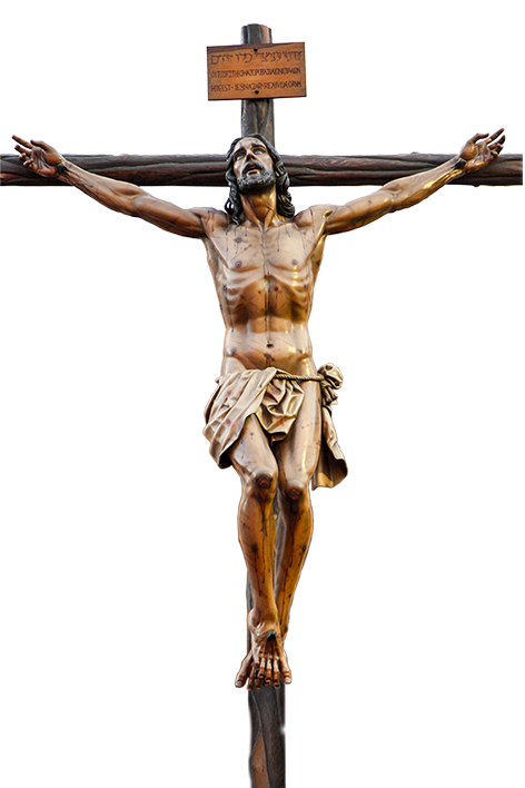 Arts Christian Of Cross Jesus In Crucifixion PNG Image
