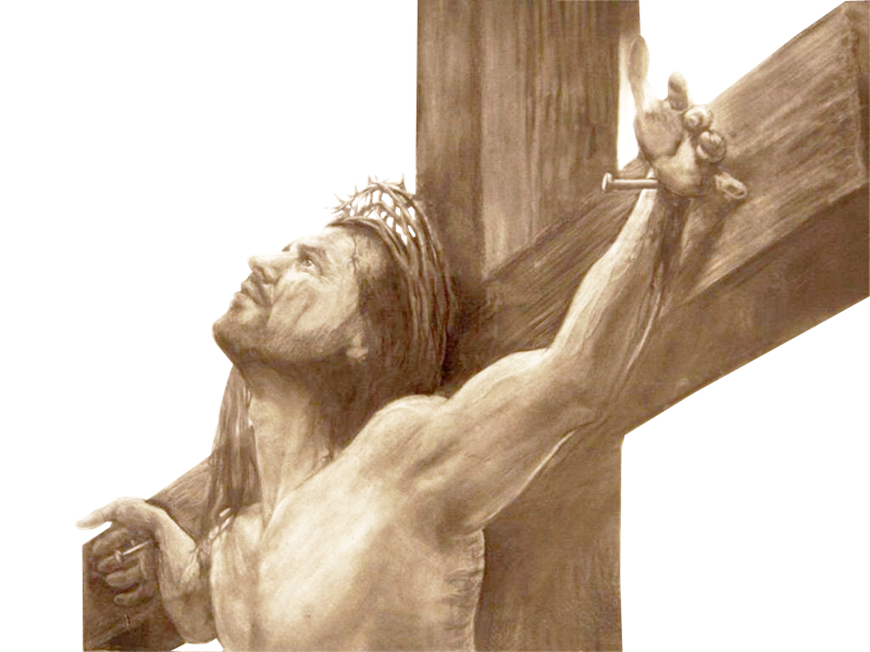 Religi Sketch Christian Of Cross Jesus Crucifixion PNG Image