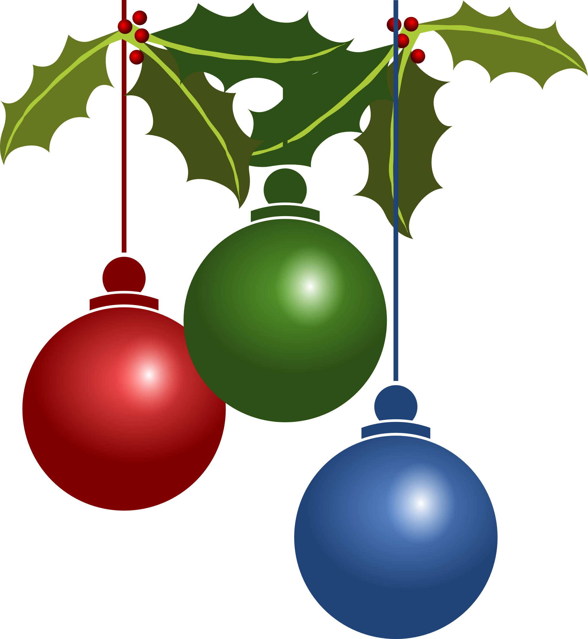 Christmas Ornament Clipart PNG Image
