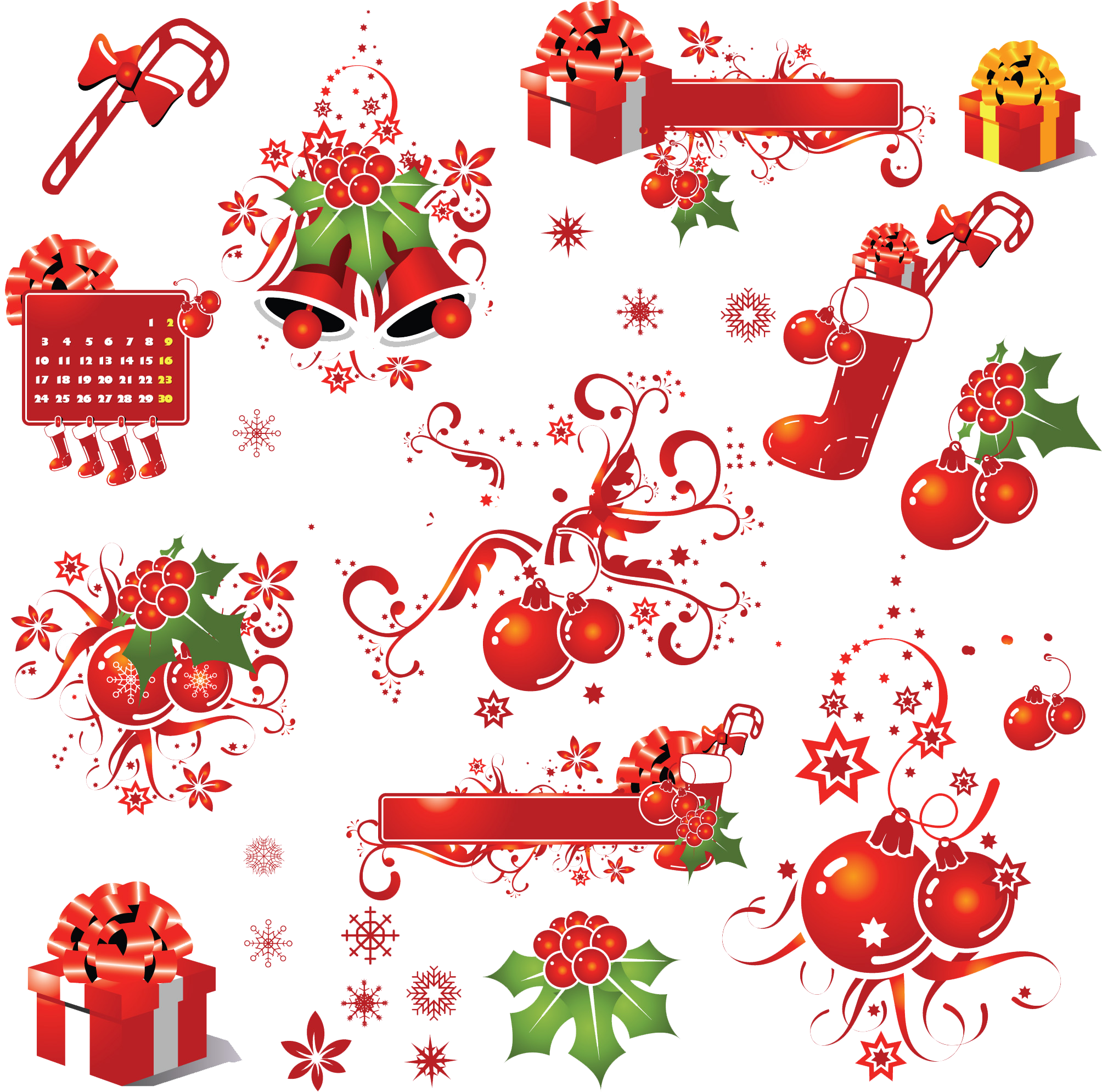 Christmas Elements Picture PNG Image