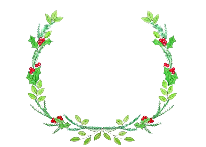 Christmas wreath thin. Download transparent image hq