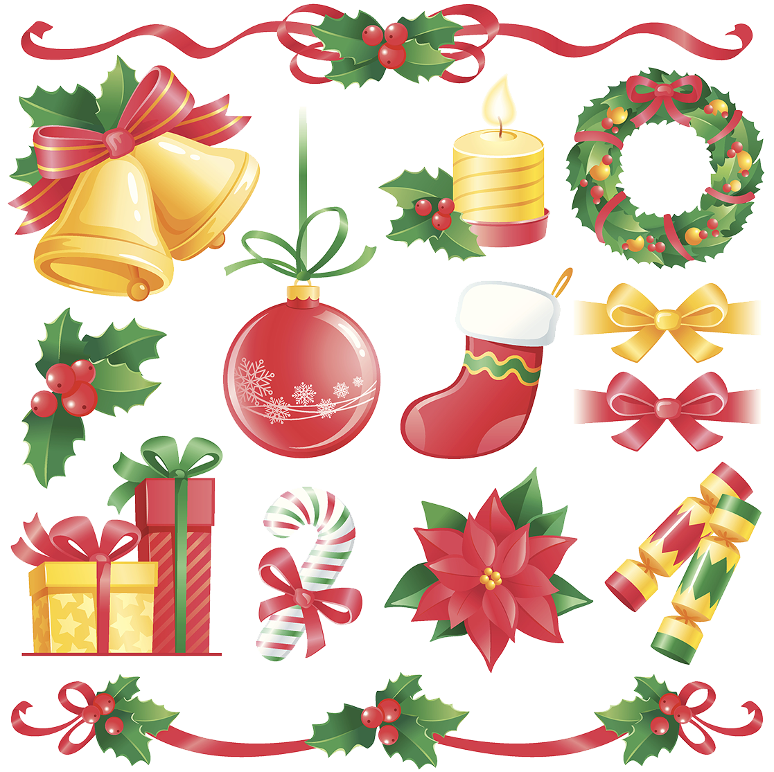 Flat Cracker Illustration Design Decorations Christmas PNG Image