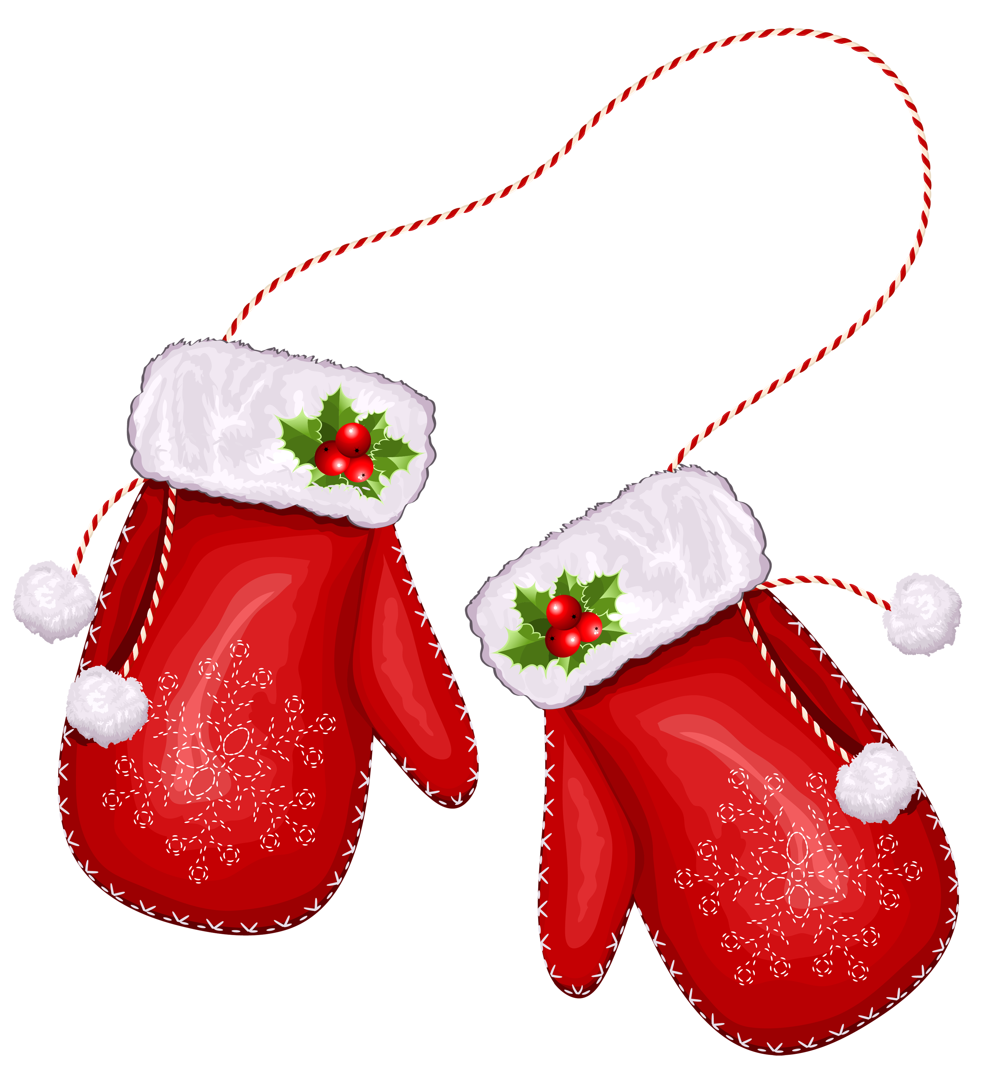Glove Transparent Large Gloves Santa Christmas Red PNG Image