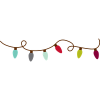 christmas lights png clipart png image