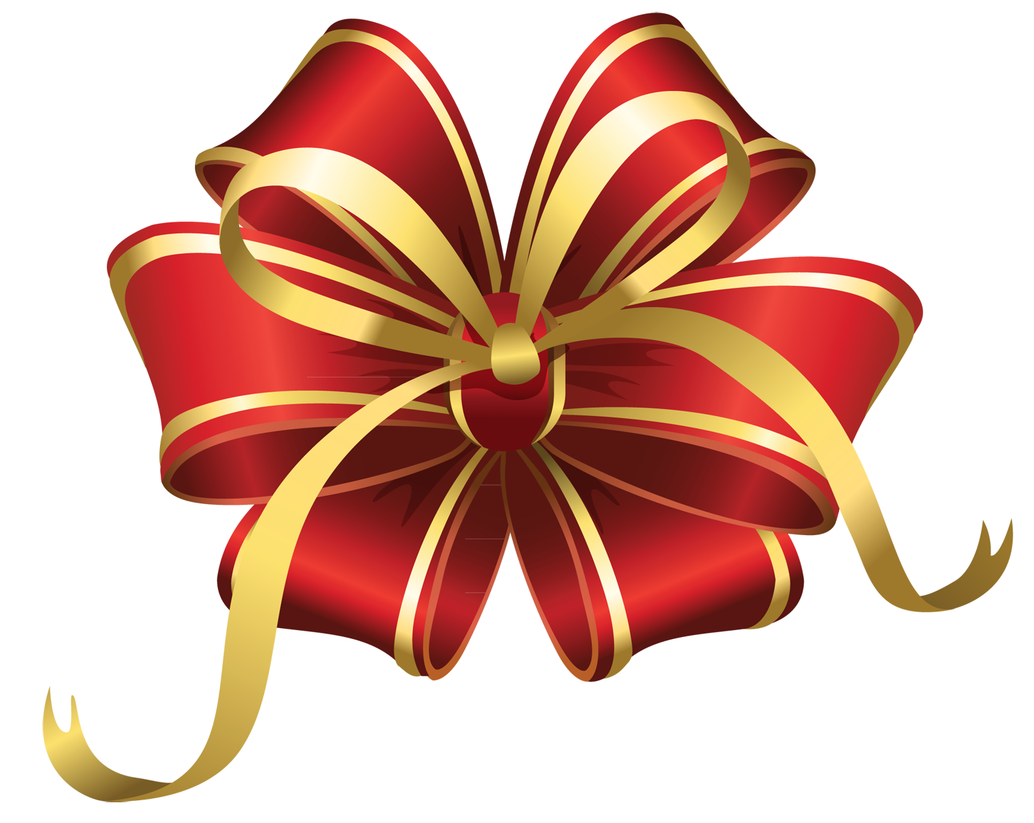 Christmas Ribbon Picture PNG Image