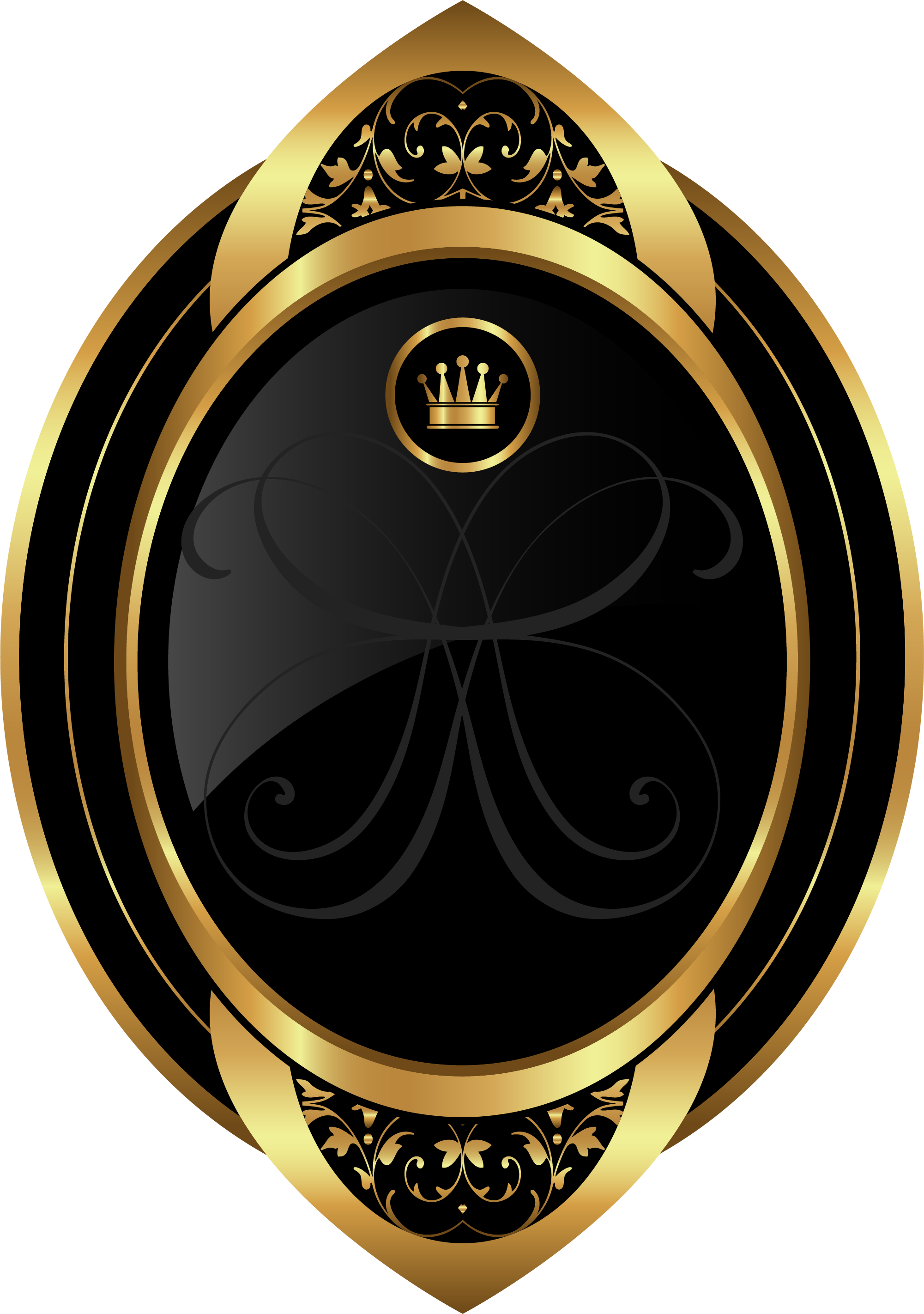 Painted Golden Crown Hand Free Clipart HQ PNG Image