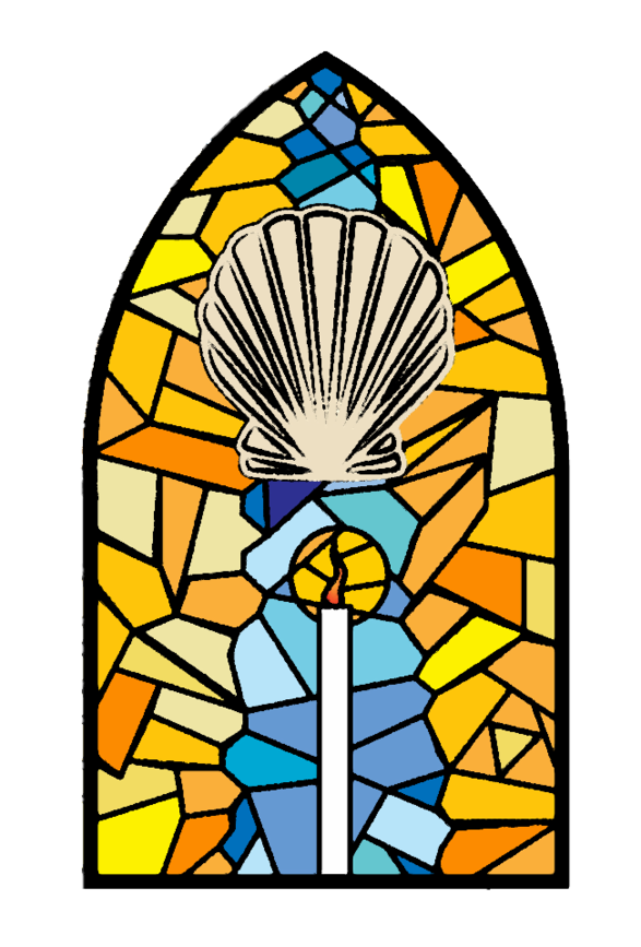 Catholic Seven Altarpiece Of Stained Glass Sacraments PNG Image
