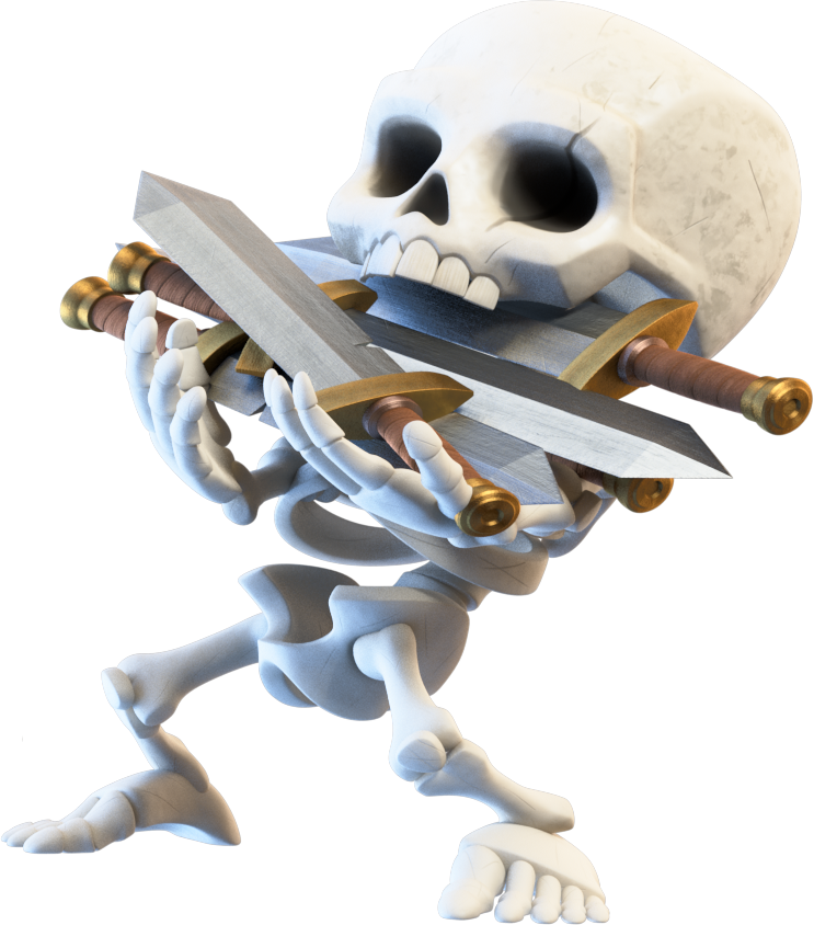 Skeleton Clash Of Figurine Royale Clans Android PNG Image