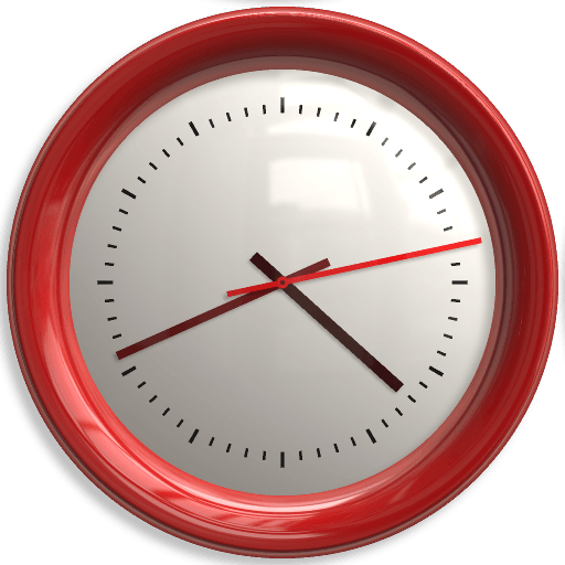 Red Wall Clock Png Image PNG Image