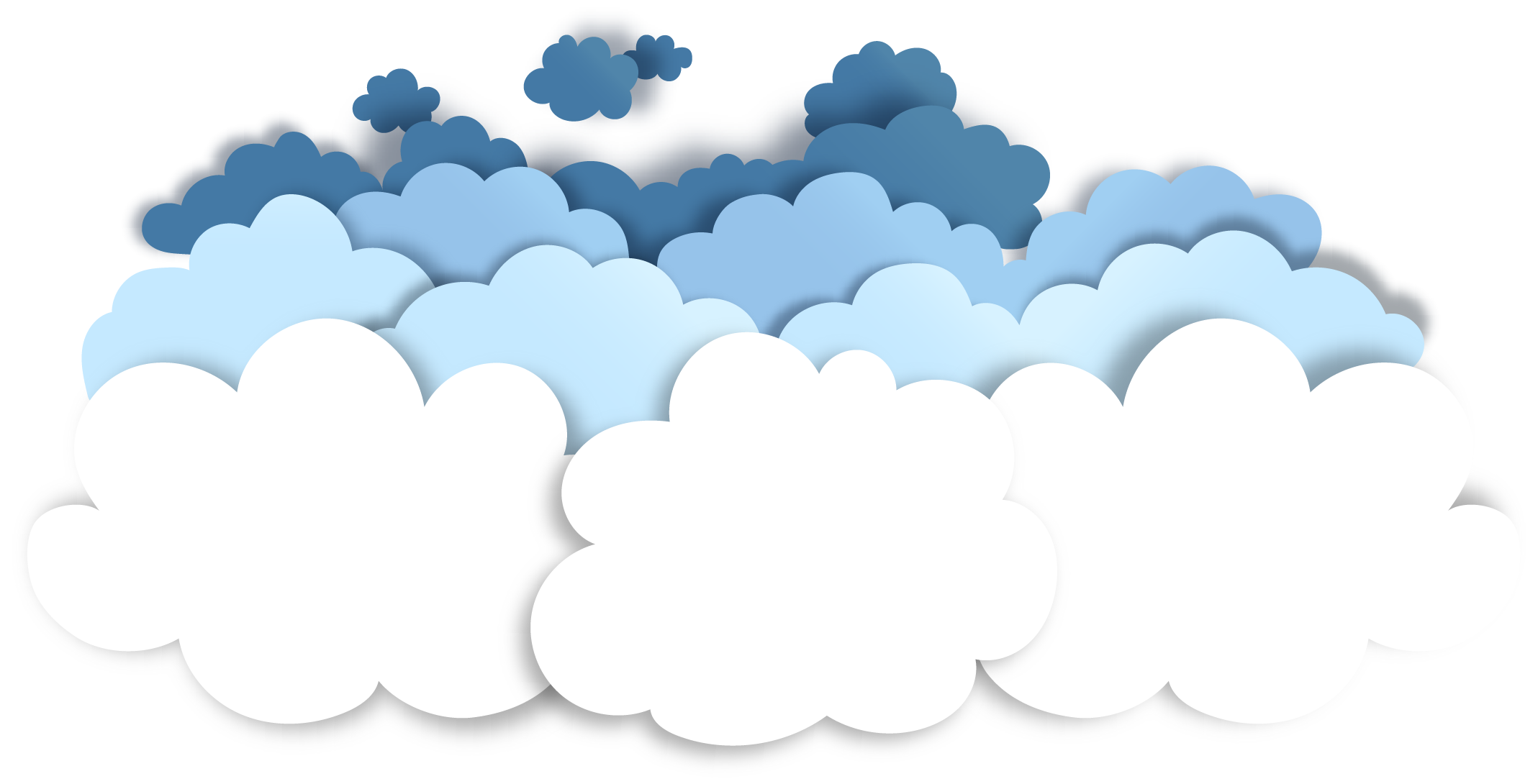 Decorative Vector Clouds Papercutting Pattern Effect Cutting PNG Image