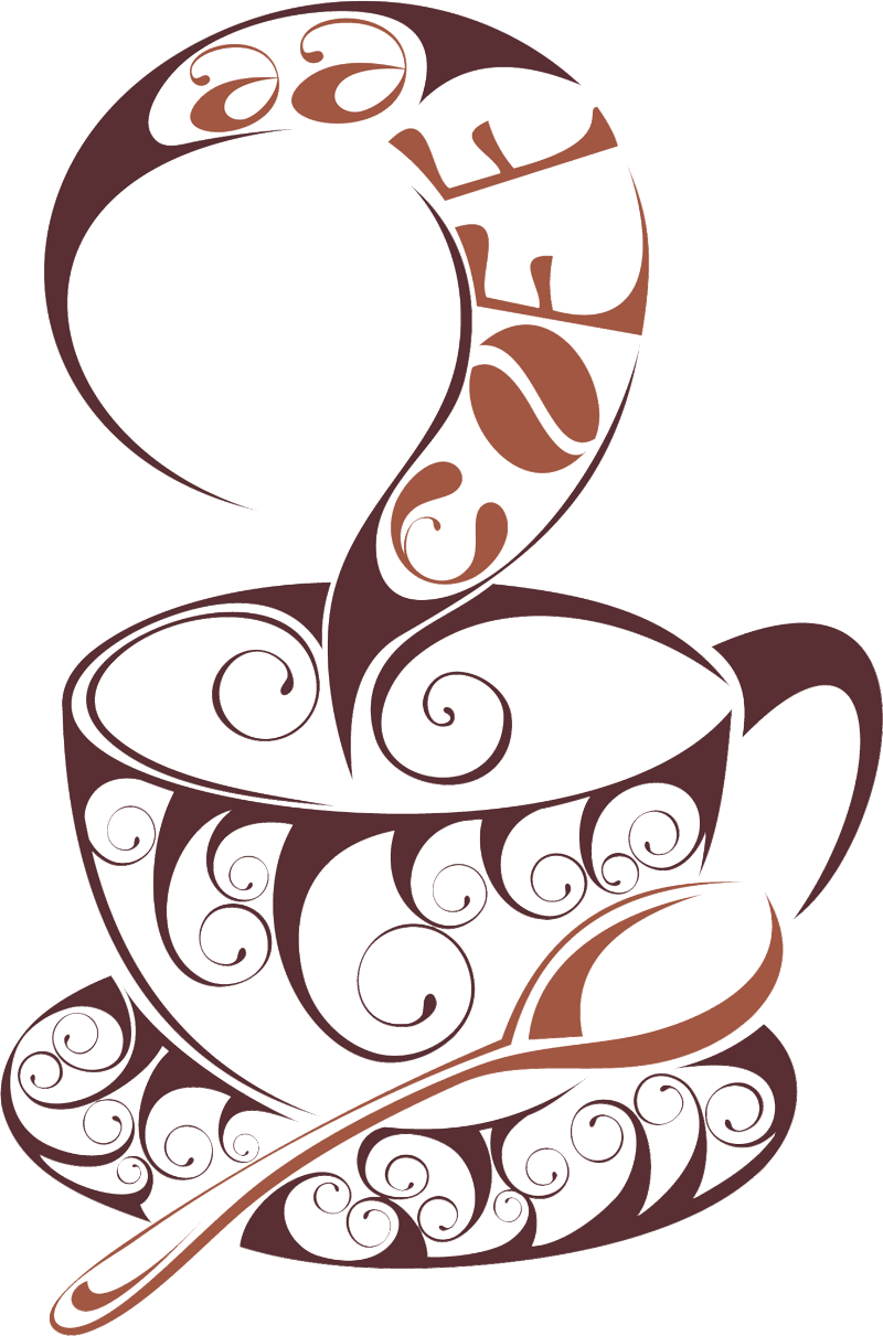 Coffee Cup Wall Tea Decal Passion Cafe PNG Image