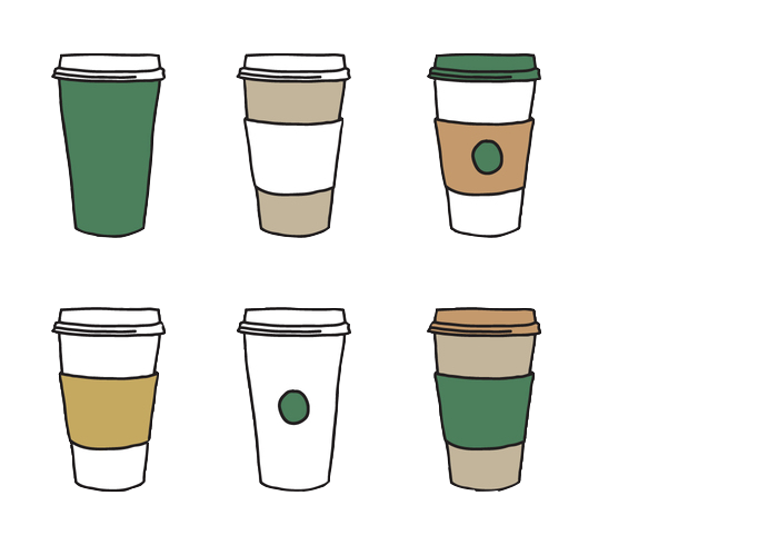 Coffee Cup Tea Take-Out Glass Of Pint PNG Image