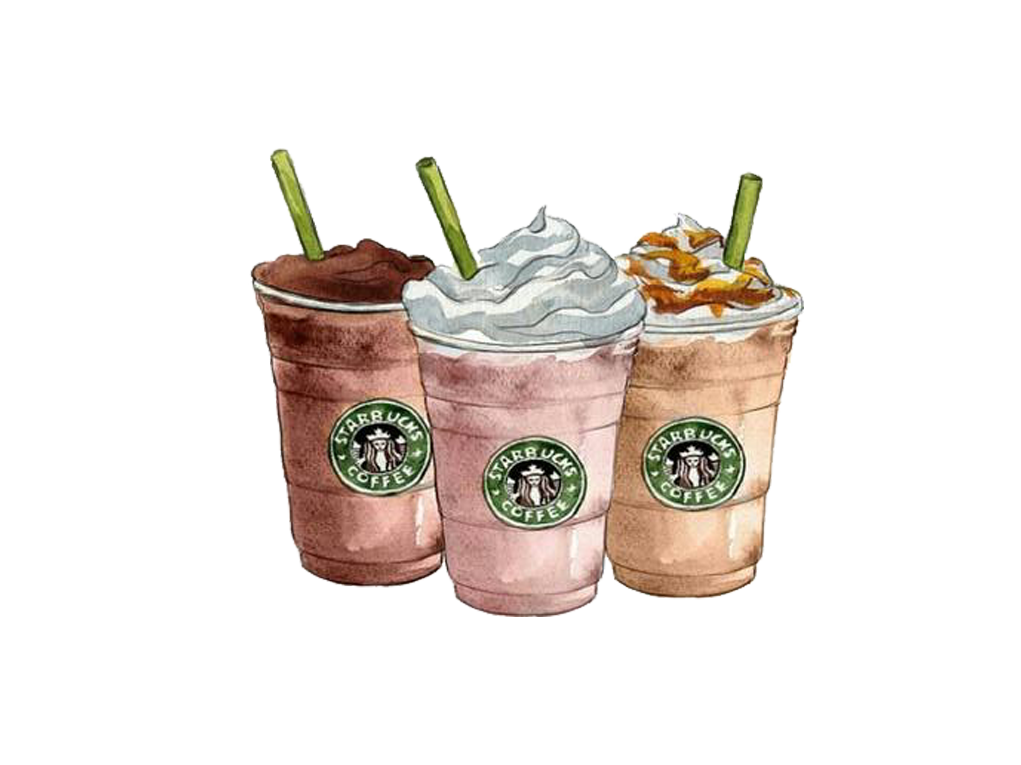 Coffee Frappuccino Ice Starbucks Drawing Cream PNG Image