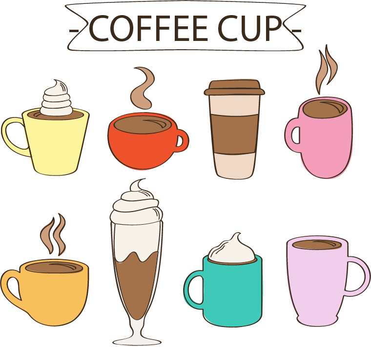 Download Coffee Cappuccino Tea Material Latte Vector Cafe Hq Png Image Freepngimg