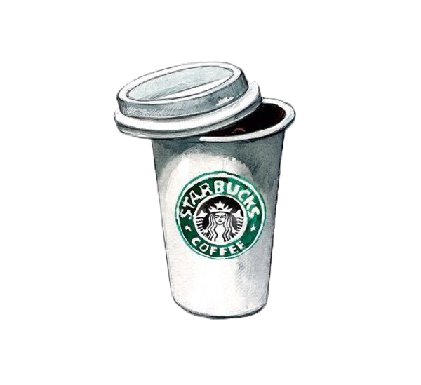 Coffee Cappuccino Stamped Tea Mug Starbucks Drawing PNG Image