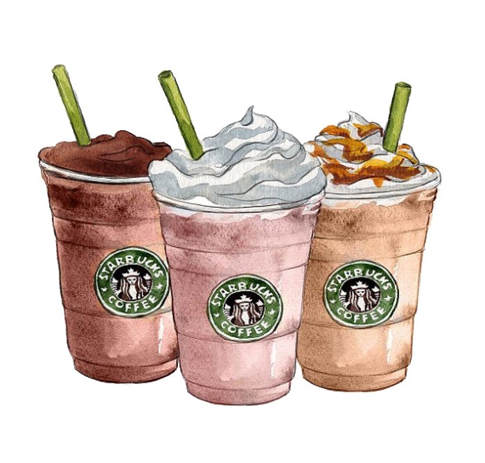 Coffee Ice Latte Starbucks Cafe Cream PNG Image