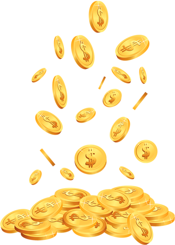 Scattered Coin Penny Coins Cent PNG Image High Quality PNG Image