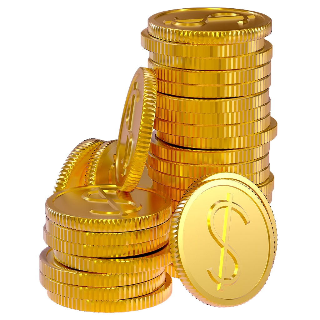 Golden Gold Photography Coins Coin Bank PNG Image