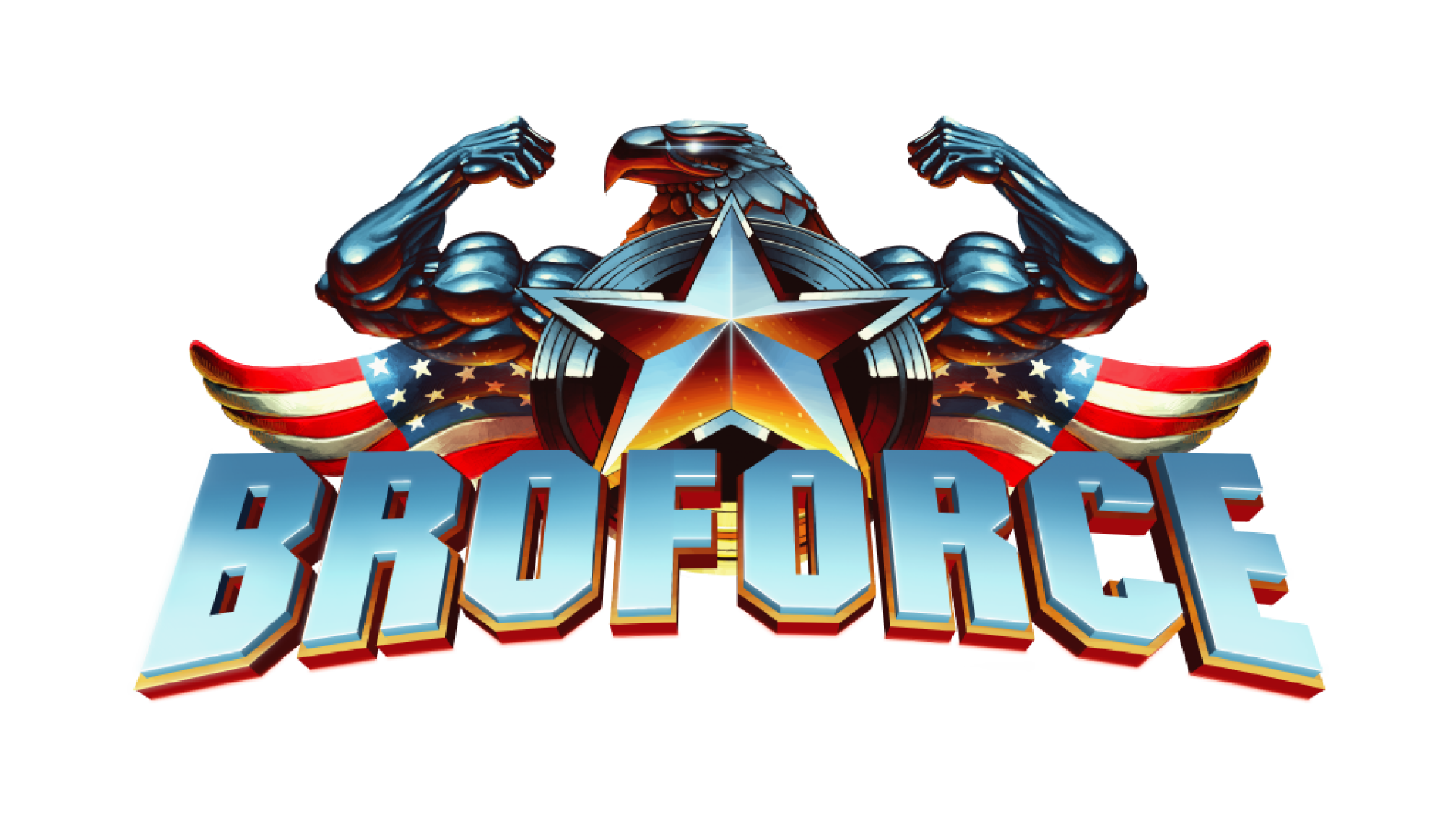 Broforce Logo Brand Game Linux Download HD PNG PNG Image