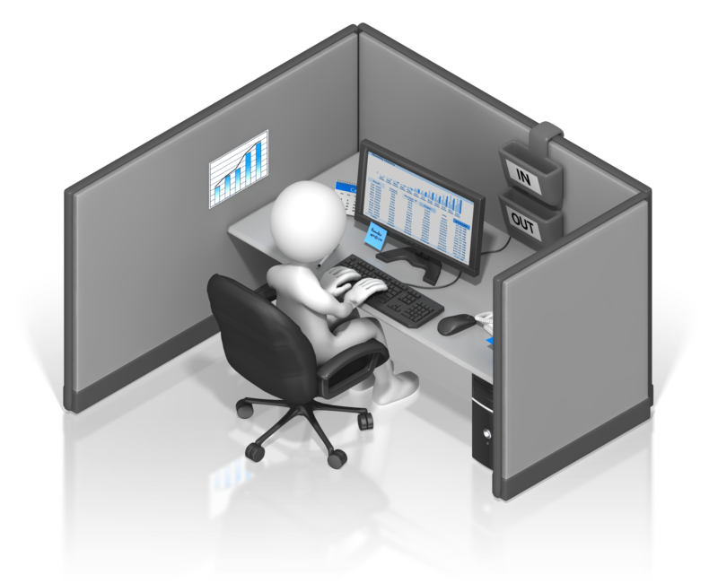 Head Business Office Projects, Cubicle Fax Leads PNG Image