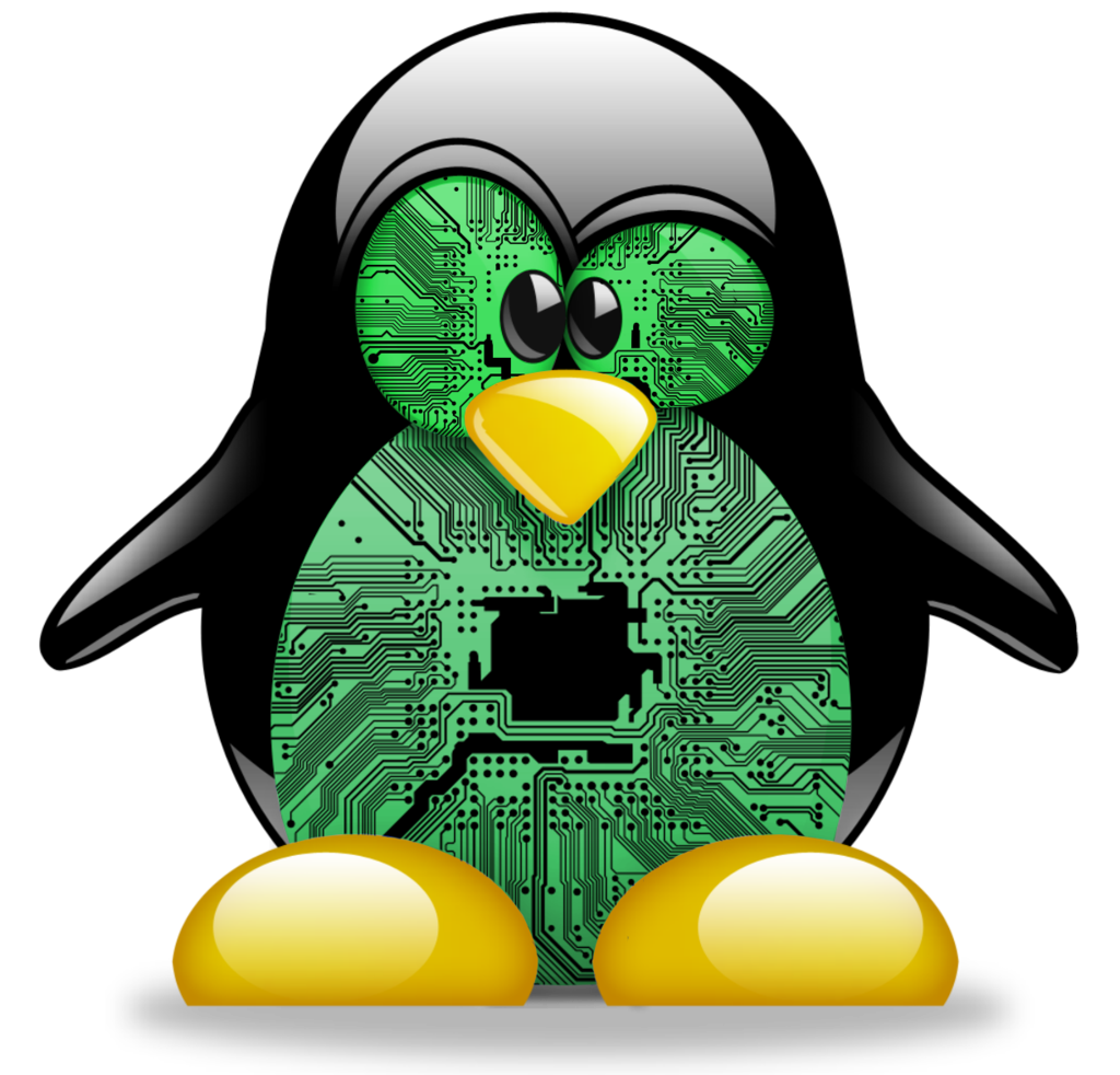 Tux Kernel Kali Opensuse Computer Board Circuit PNG Image
