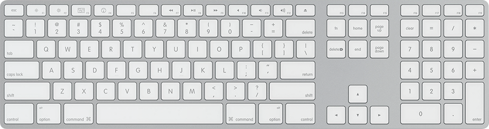 Trackpad Full Magic Apple Bluetooth Computer Keyboard PNG Image