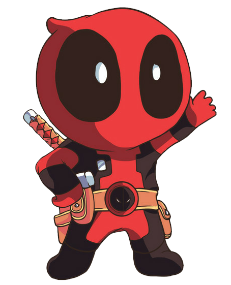 Cute Deadpool Chibi Png PNG Image