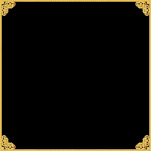 Download Gold Border Frame Transparent HQ PNG Image ...