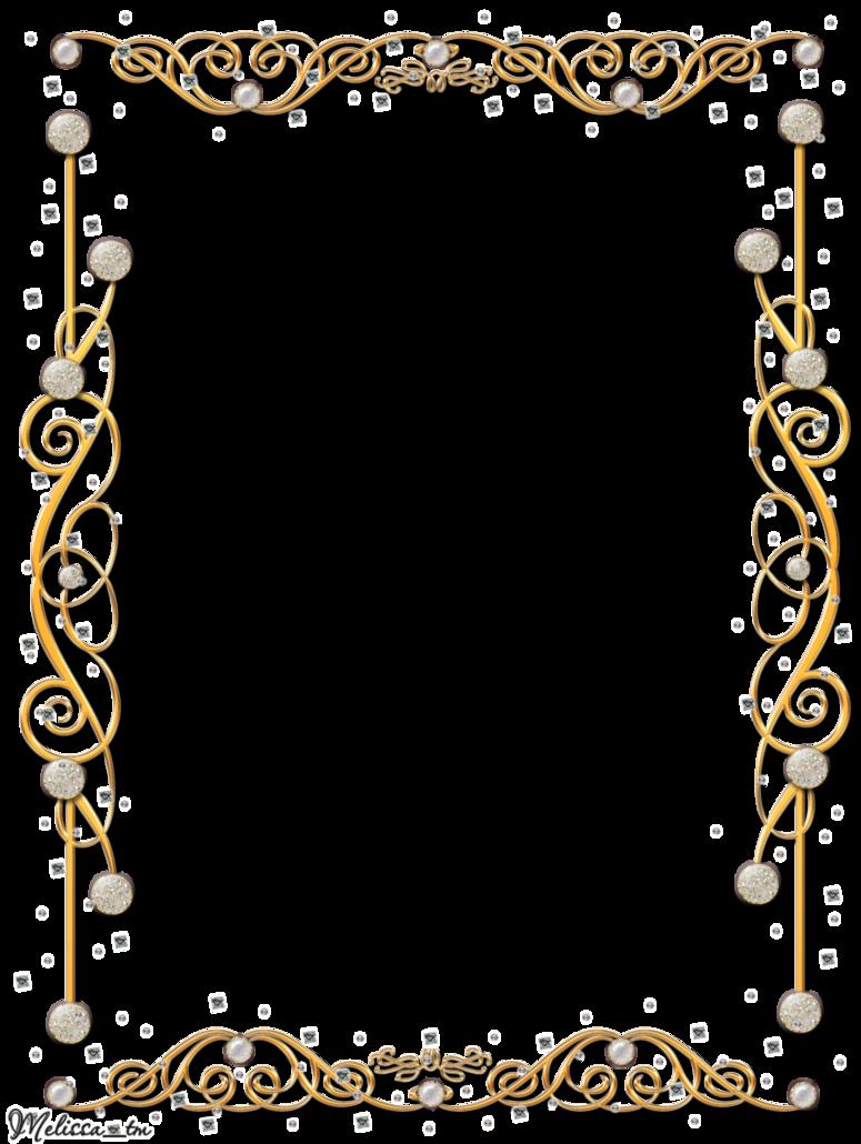 Download Gold Border Frame Image HQ PNG Image   FreePNGImg