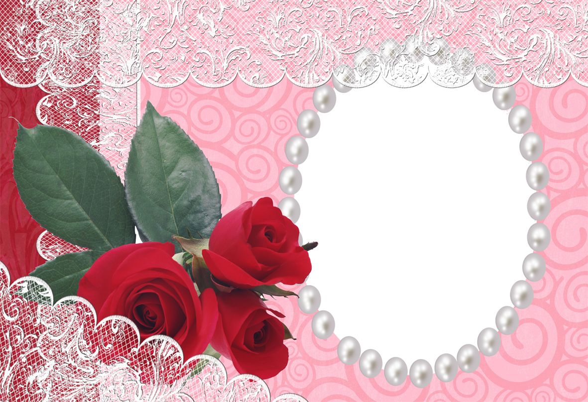 Download PNG image - Red Flower Frame Photo 1707