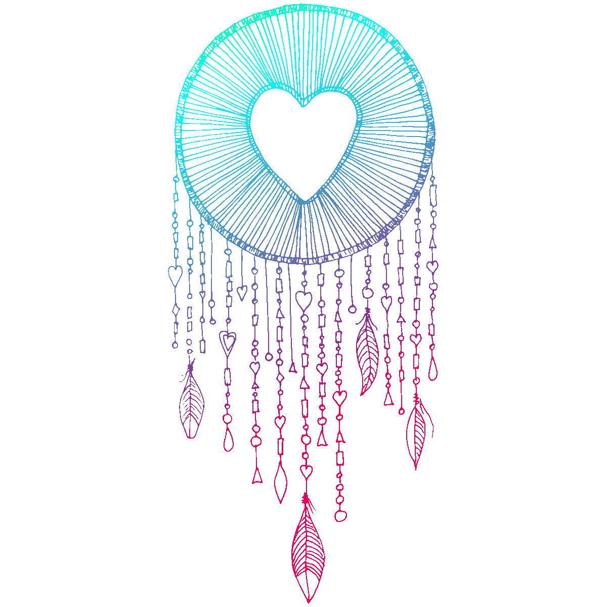 Heart Symbol Drawing Dreamcatcher PNG Free Photo PNG Image