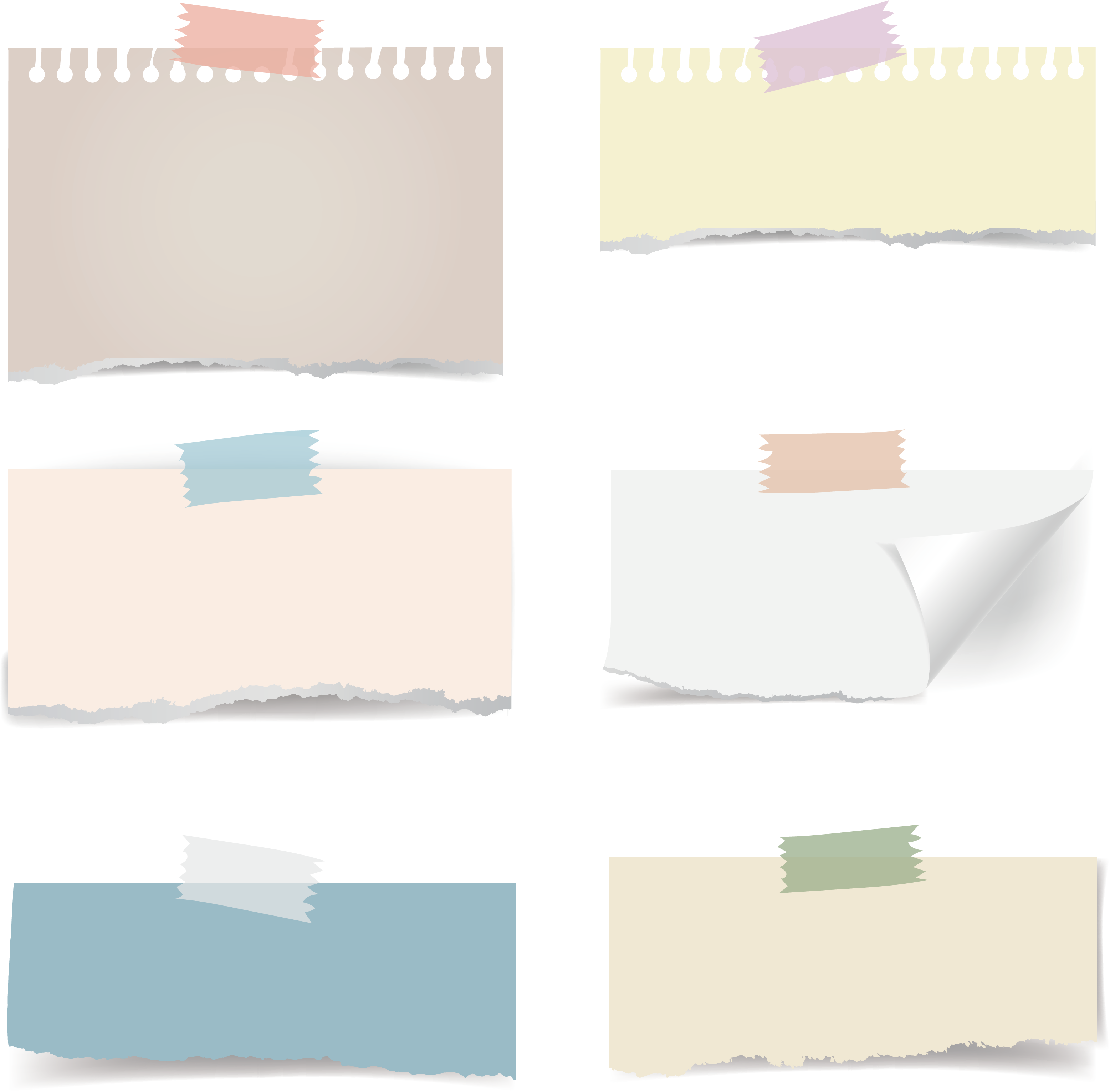 Adhesive Sticker Effect Note Paper Tape Post-It PNG Image