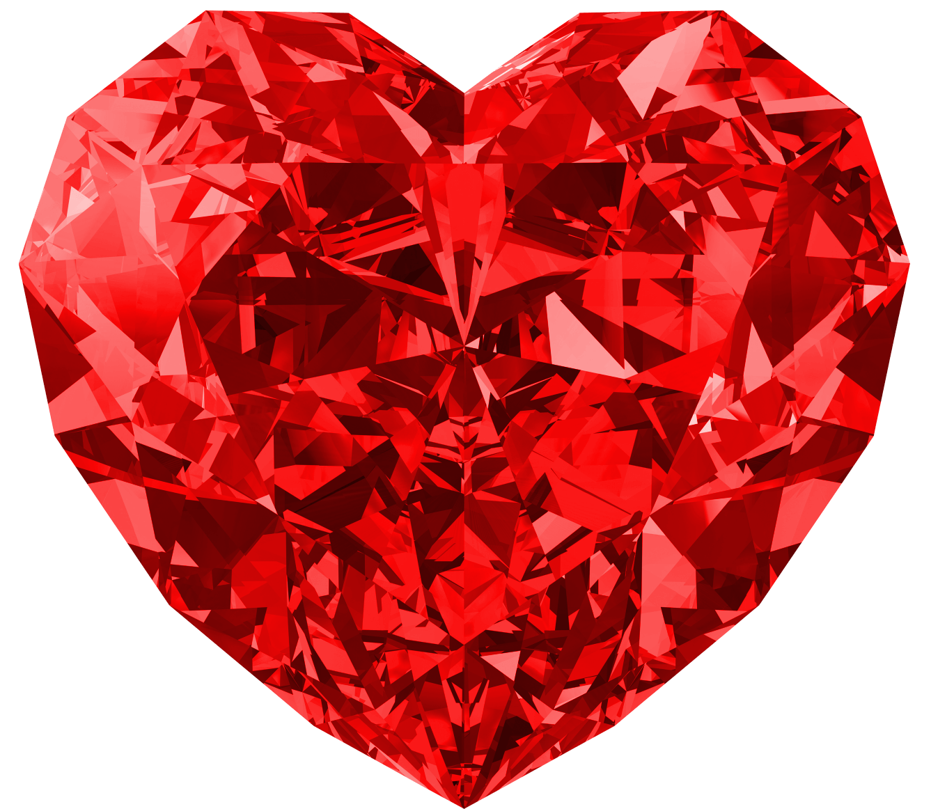 Red Heart Diamond Png Image PNG Image