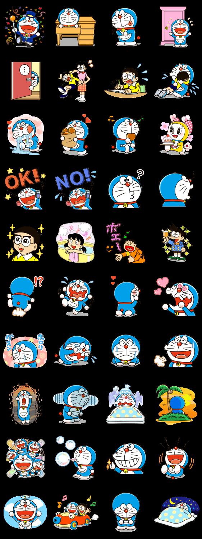 Emoticon Text Sticker Doraemon Minamoto Shizuka PNG Image