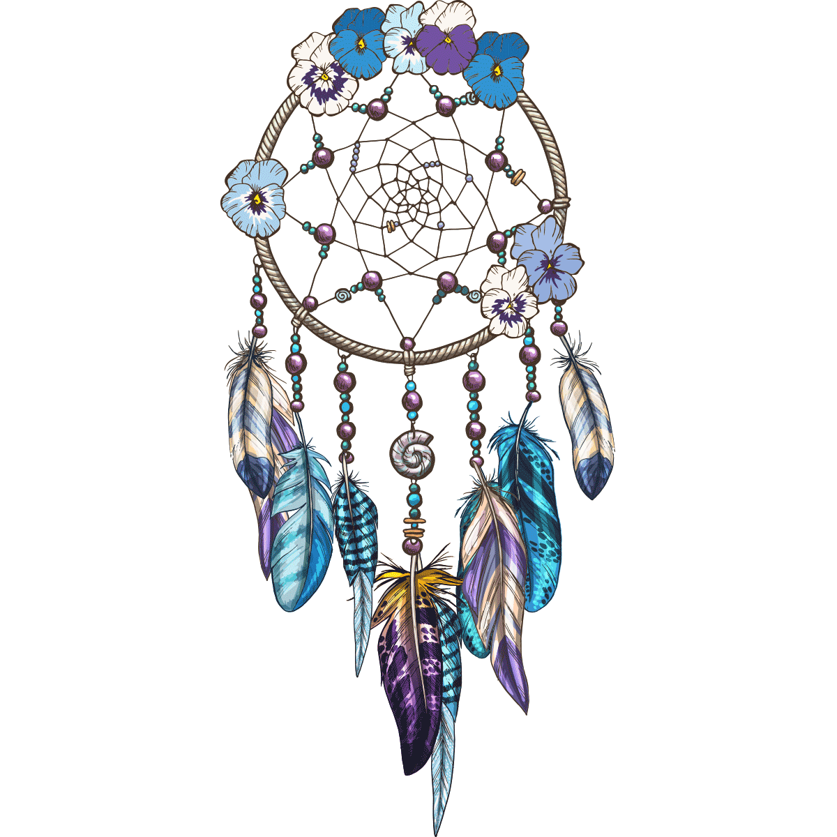 Dreamcatcher Ornament Illustration Vector Graphics Feather PNG Image