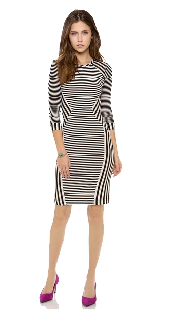 Striped Dress Transparent PNG Image