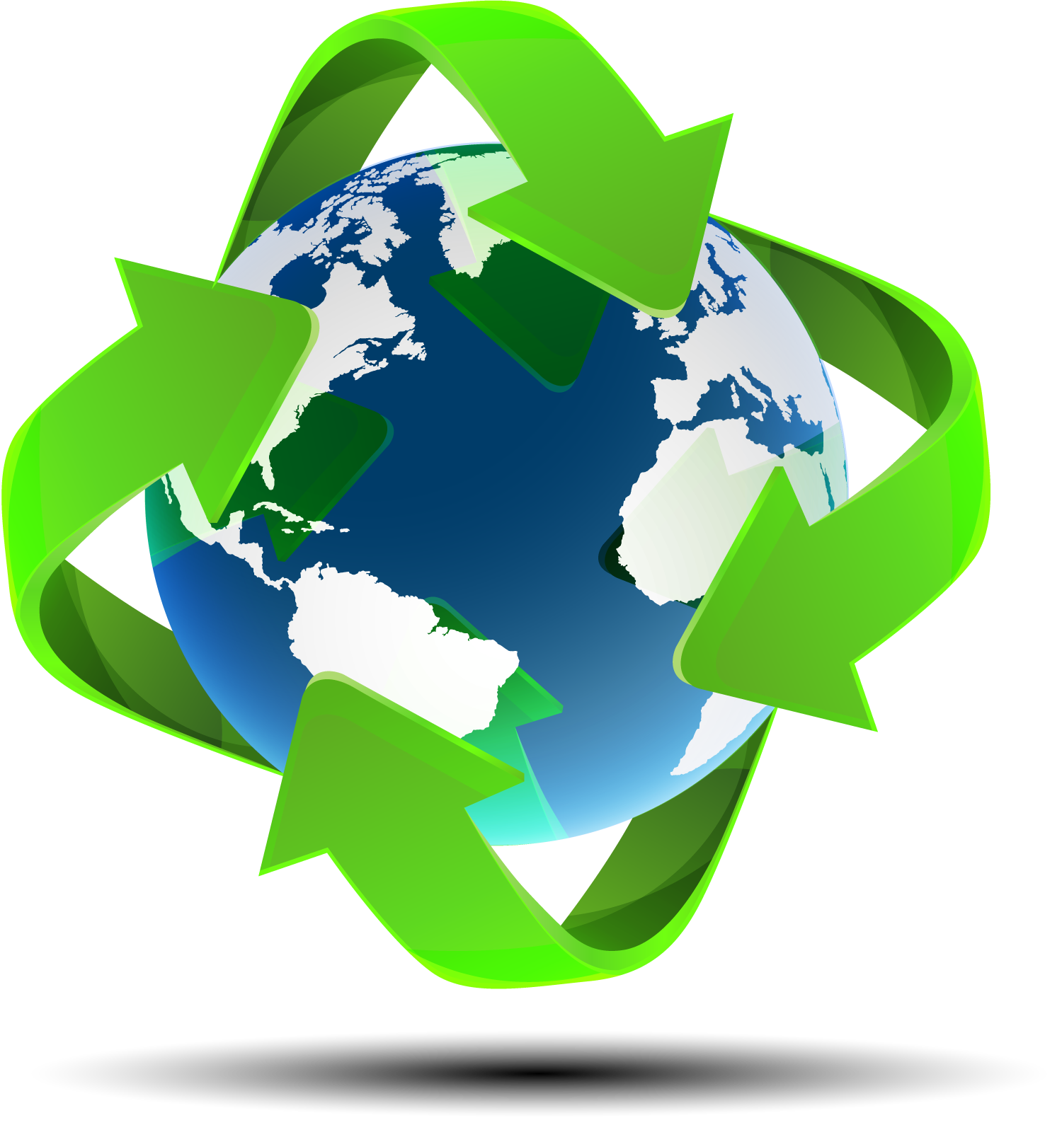 Map Globe Vector World Recycle Earth PNG Image