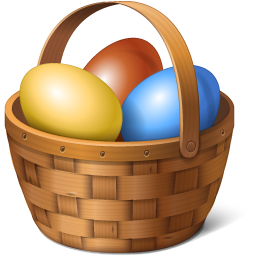 Easter Basket Bunny Picture PNG Image