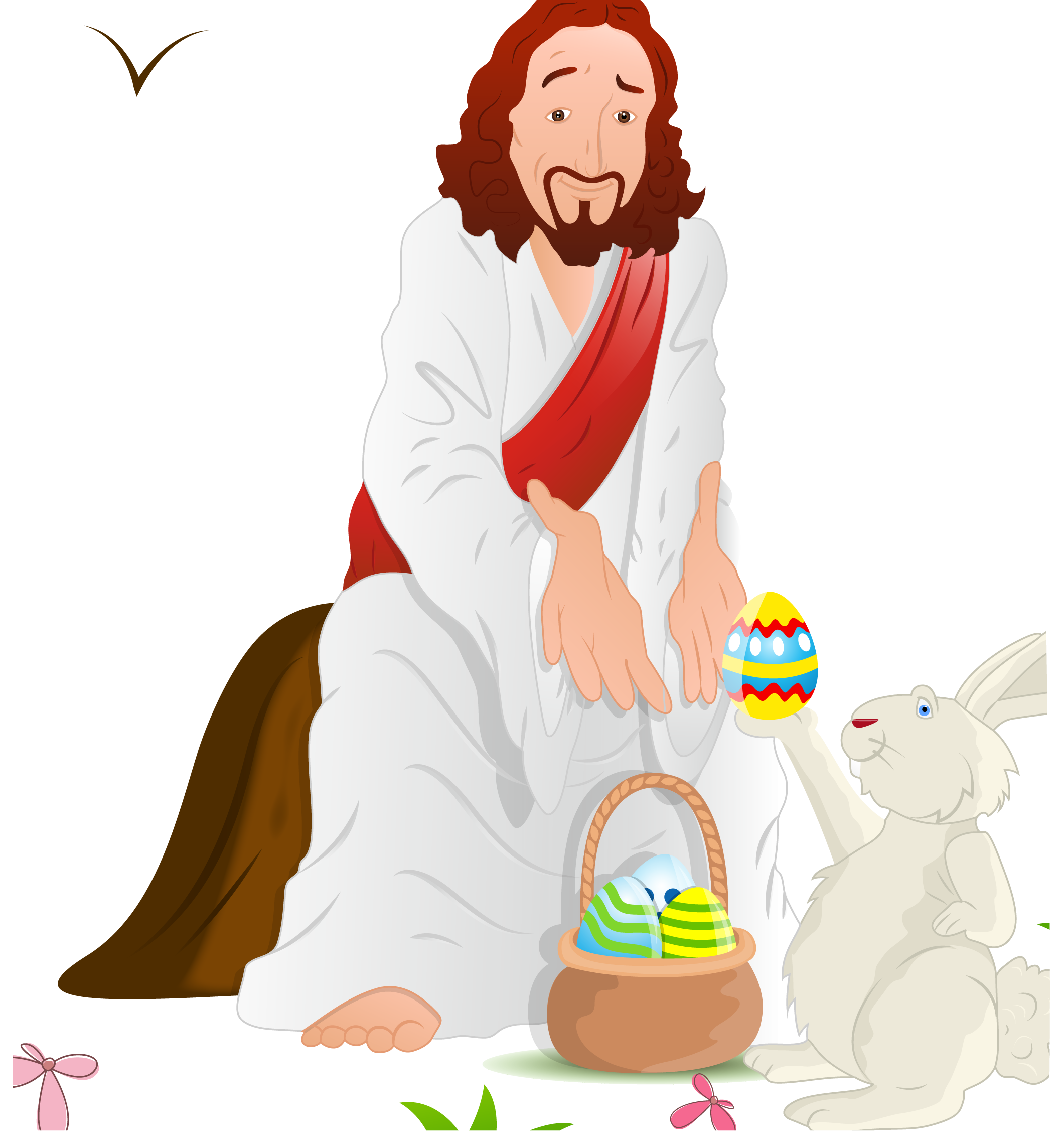And Of Eggs Illustration Jesus Resurrection Easter PNG Image
